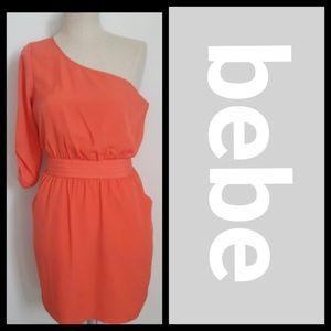 bebe off the shoulder dress XS